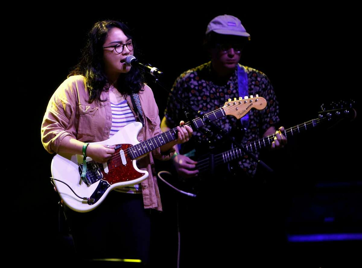 Jay Som performs during Oakland United: Benefit Concert for Oakland Fire Victims at Fox Theater in Oakland, Calif., on Wednesday, December 14, 2016.