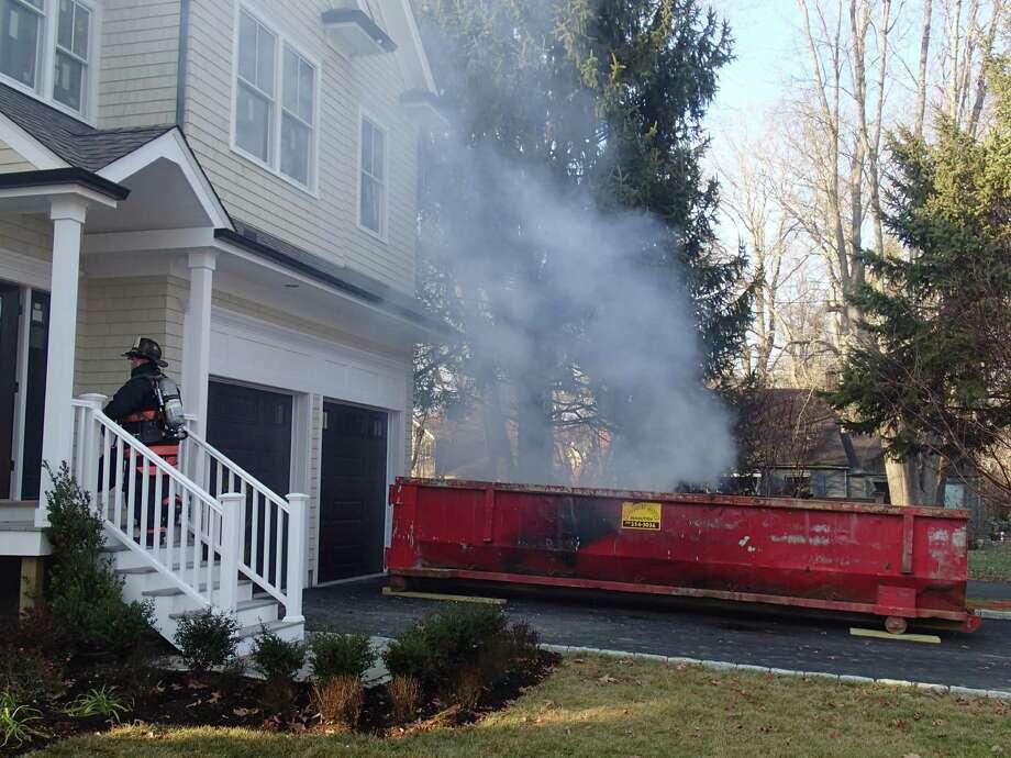 Westfair Drive trash fire 12-14-16 Photo: Contributed Photo