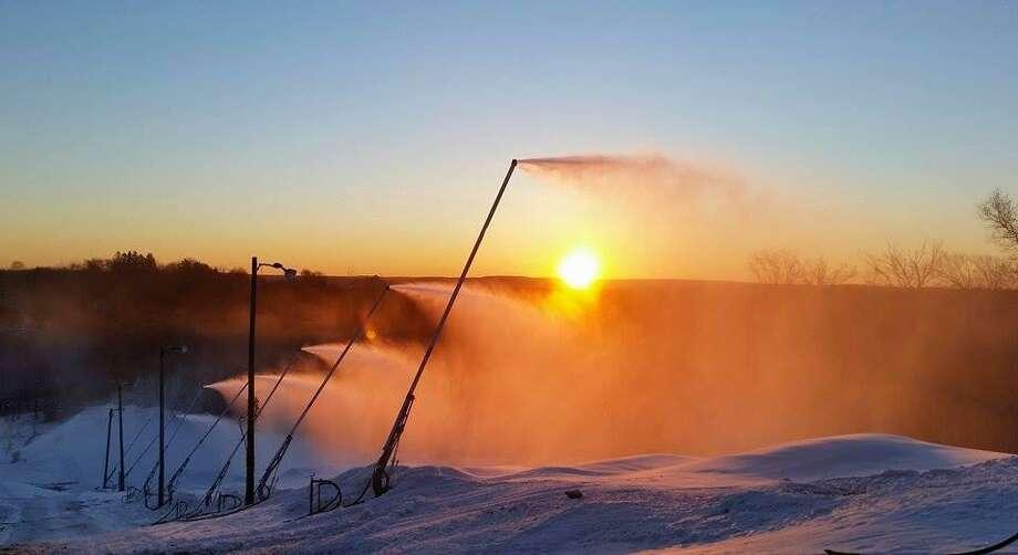 Thanks to snowmaking the Power Ridge Mountain Park in Middlefield will open on Saturday, Dec. 17, 2016. Photo: Powder Ridge Via Facebook