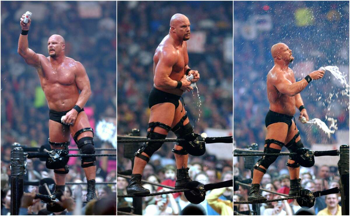 """PHOTOS: 'Stone Cold' Steve Austin through the years This week Texas native and WWE legend """"Stone Cold"""" Steve Austin talked on his podcast about his beer habit in the ring during his pro wrestling heyday. Click through to see more photos of Steve Austin through the years..."""