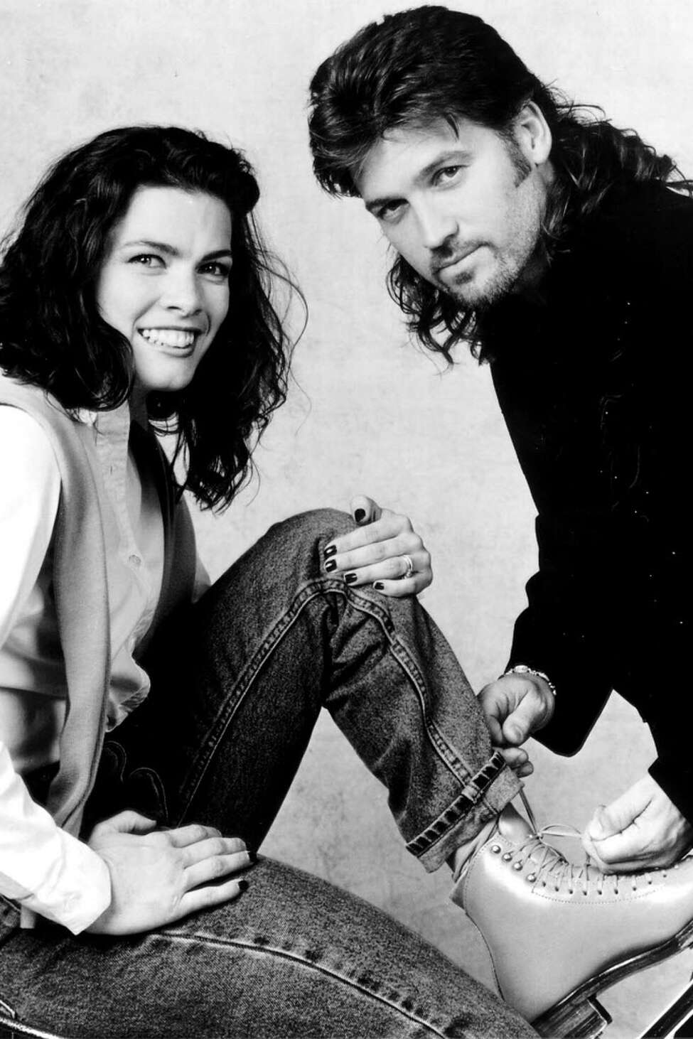 """In 1999, Nancy Kerrigan skated to the music of Billy Ray Cyrus and others on the new TNN special """"Holiday Celebration on Ice."""""""