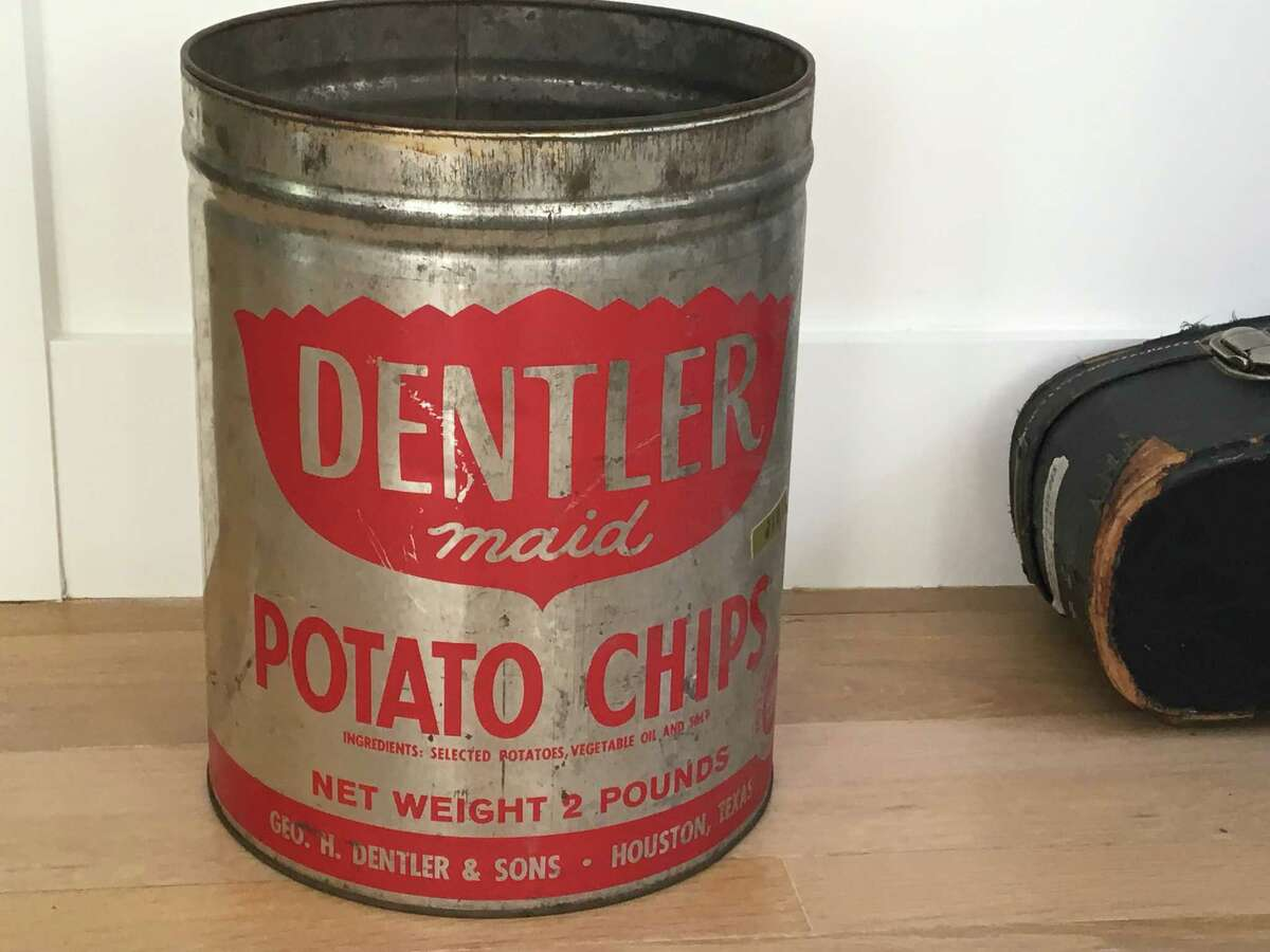 When Dentler Potato Chips were delivered to homes, they were in tin cans like this one.
