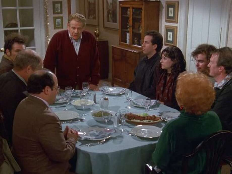 Festivus wasn't invented for the show 'Seinfeld,' strictly speaking. It was already a decades-old tradition for one family: The O'Keefe's. Son Dan was hired as a writer for the show and used his father's invention as the basis of the episode. The O'Keefes first celebrated Festivus in 1966, hoping to create a secular day free of commercialism. Photo: Sony Pictures Television