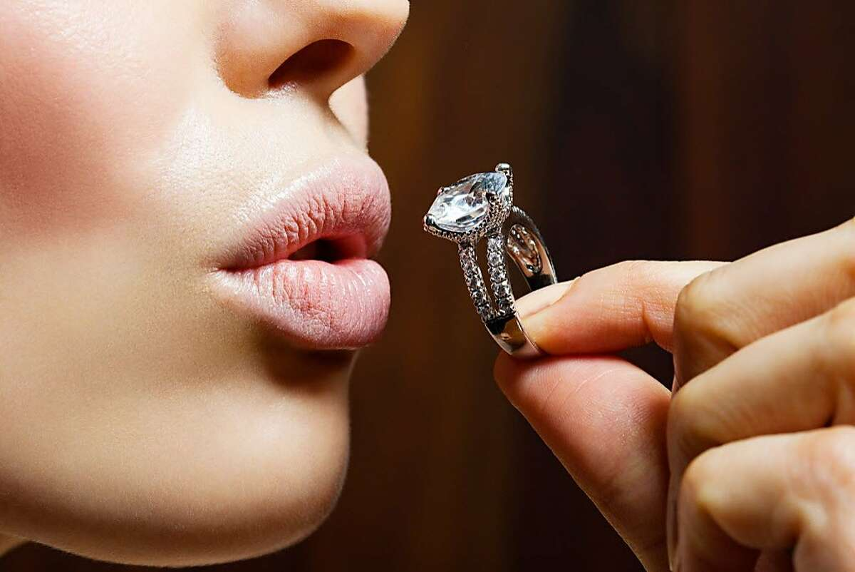A woman is not happy with the engagement ring she received.