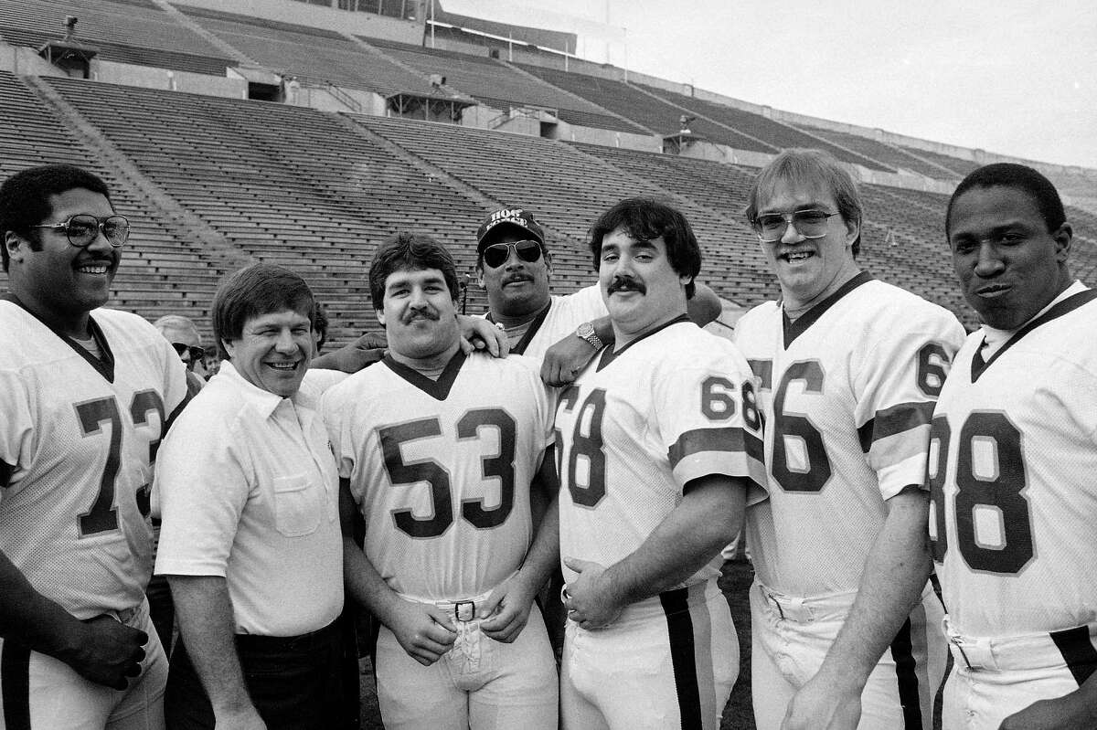 """John Riggins carried the ball a record 38 times behind his offensive line that wore out the Dolphins. Riggins put Washington ahead for good with a 43-yard touchdown run and got to celebrate with his """"Hogs."""""""