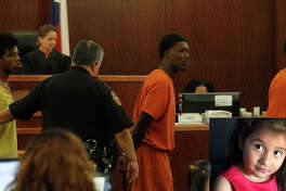 Philip Battles, 18; left, Ferrell Dardar, 17, center, and Marco Alton Miller, 17, right appeared before Judge Katherine Cabaniss at the Harris County Criminal Courthouse, Monday,Dec. 5, 2016 in Houston, they have been charged with capital murder in the shooting death of a 4-year-old girl killed during a robbery as her family was unloading groceries. Ava Castillo died and her mother and 10-year-old sister were injured Nov. 14 in the parking lot of their Greenspoint-area apartment complex. ( Karen Warren / Houston Chronicle )