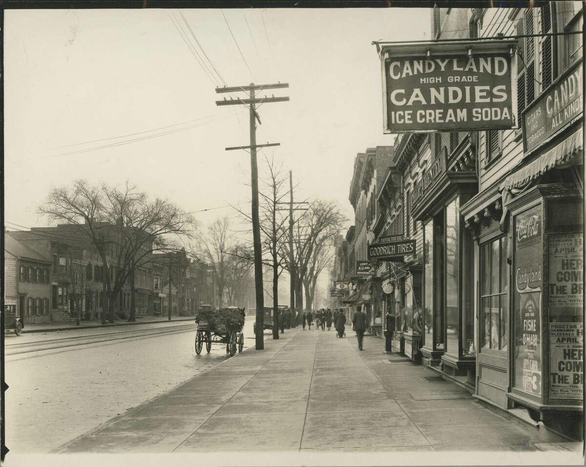 A look up Central Avenue circa 1922.