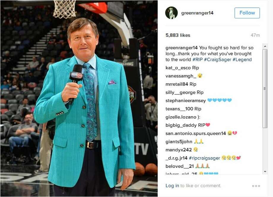 greenranger14You fought so hard for so long...thank you for what you've brought to the world #RIP #CraigSager #Legend Photo: Instagram