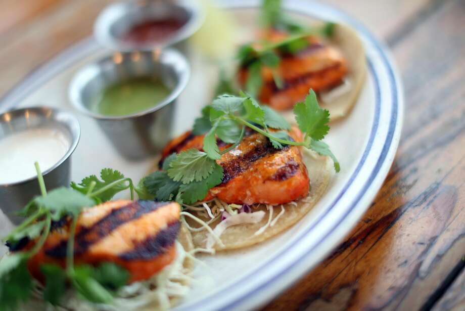 Tacos made with the invasive species Asian carp at Fish restaurant in Sausalito. Photo: Scott Strazzante, The Chronicle