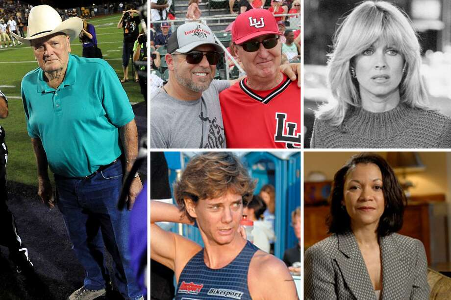 See the people who earned a degree or took classes at Lamar University and their post-collegiate accomplishments. Pictured, clockwise from top left, Kevin Millar (MLB player, sports broadcaster) and Jim Gilligan (baseball coach), Bum Phillips (NFL player, coach), Phyllis Davis (actress), Tamerla Chavis (neurosurgeon), and Lynn Alfred Terry (triathlete). Photo: The Enterprise