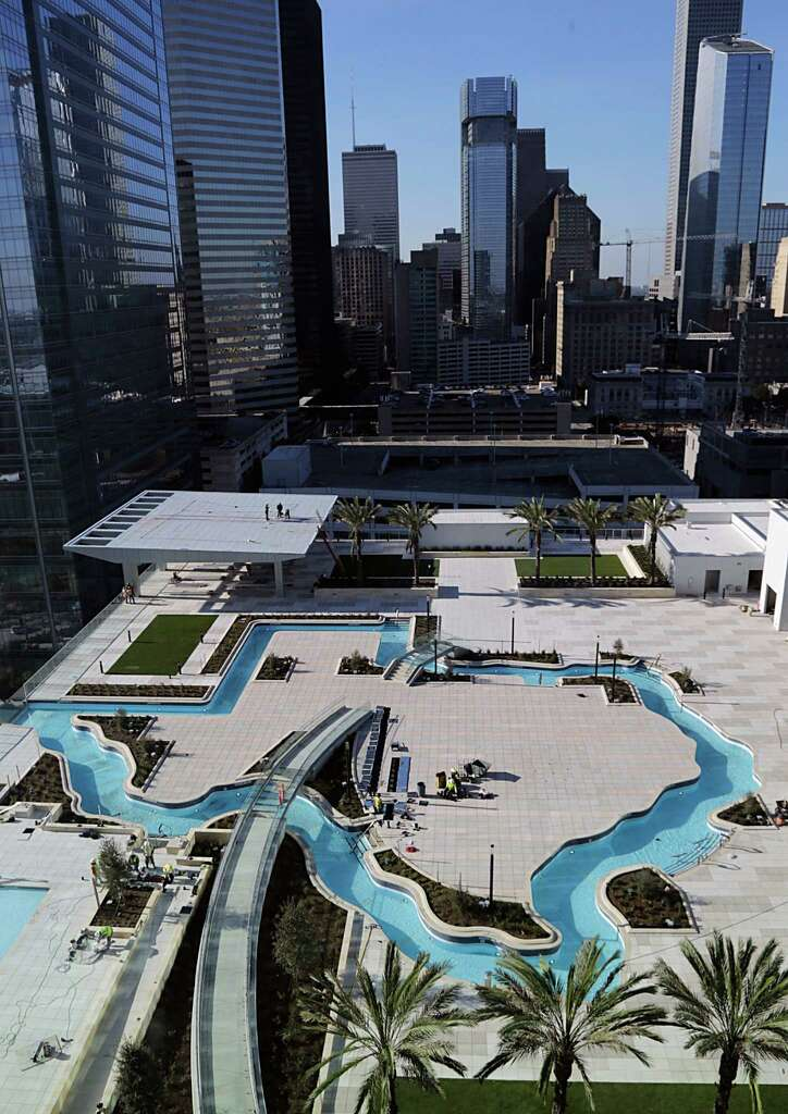 The Texas Shape Lazy River Pool At New Marriott Marquis In Downtown Dec 15