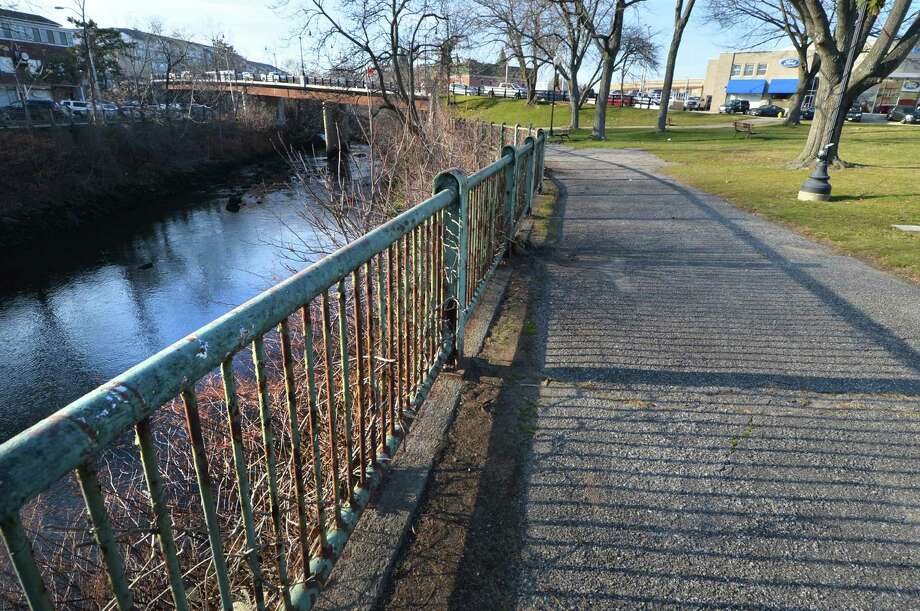 The pathway along the Norwalk River at Freese Park on Wednesday December 14, 2016, which is located at the corner of Wall and Main street in Norwalk Conn.. The Redevelopment Agency is seeking community input as part of a forthcoming master plan for the half-acre park named after five-term Norwalk Mayor Irving C. Freese. Photo: Alex Von Kleydorff / Hearst Connecticut Media / Connecticut Post