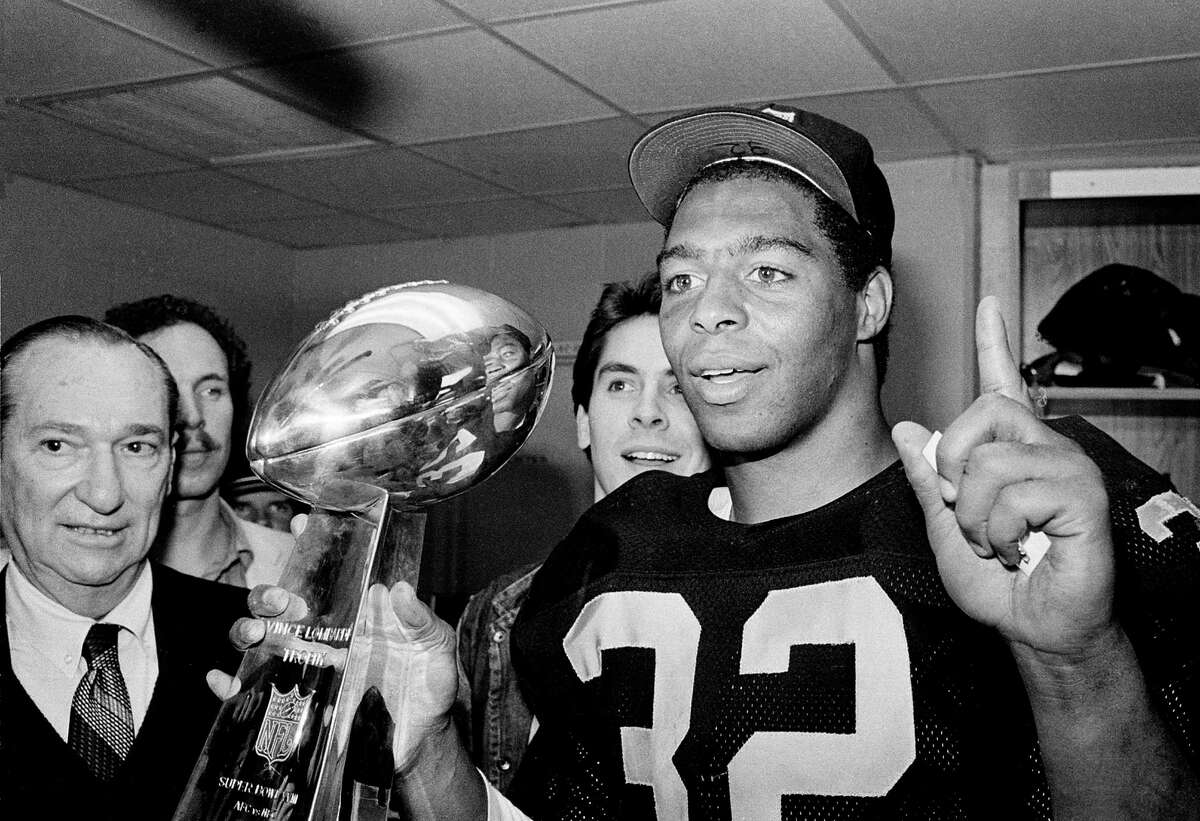 Marcus Allen's 191 yards rushing were the best in a Super Bowl and left Washington in his wake.