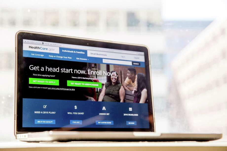 The HealthCare.gov website, where people can buy health insurance.  (AP Photo/Andrew Harnik, File) Photo: Andrew Harnik, STF / Copyright 2016 The Associated Press. All rights reserved. This material may not be published, broadcast, rewritten or redistribu
