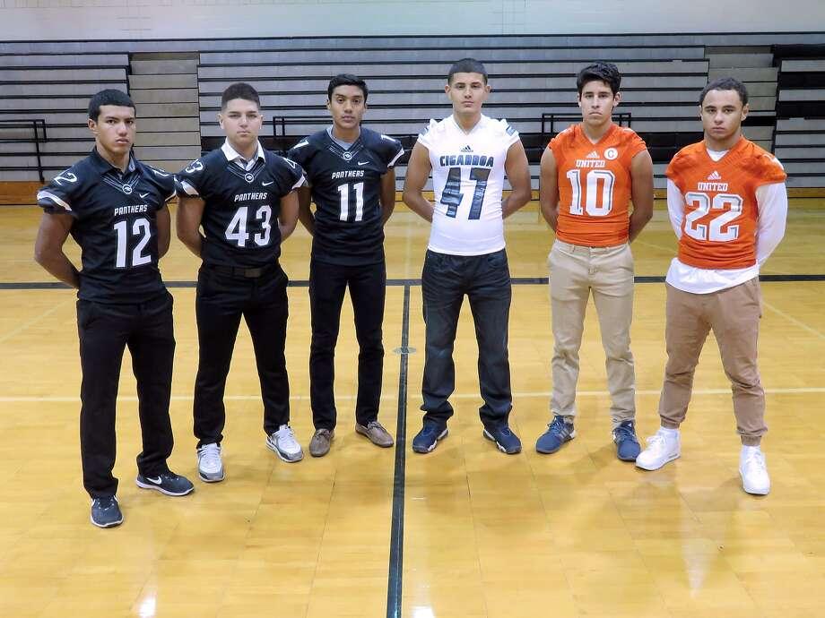 2016 Football players include, from left, Jesus Posada, Allan Martinez, Johan Portales, Daniel Diaz, David Sanchez and Isaac Velazquez. Photo: Cuate Santos / Laredo Morning Times / Laredo Morning Times
