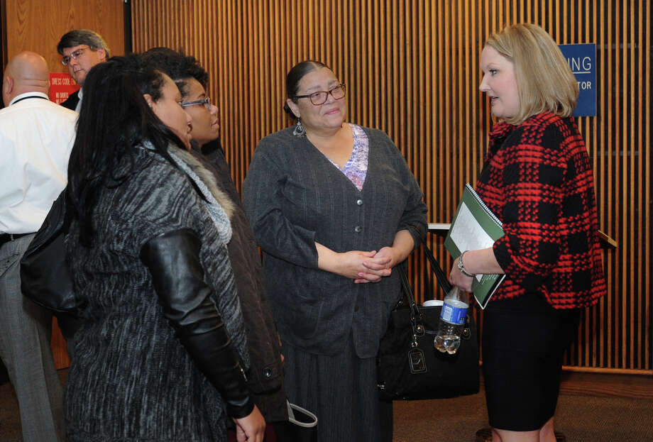 Kristofer Garcia, 22, was found guilty Thursday for the 2015 shooting death of Lamar University student Ryhdan Bolton. Rachel Grove a Jefferson County assistant district attorney talks to Bolton's family members after the conviction.  Photo taken Thursday, December 15, 2016 Guiseppe Barranco/The Enterprise Photo: Guiseppe Barranco, Photo Editor