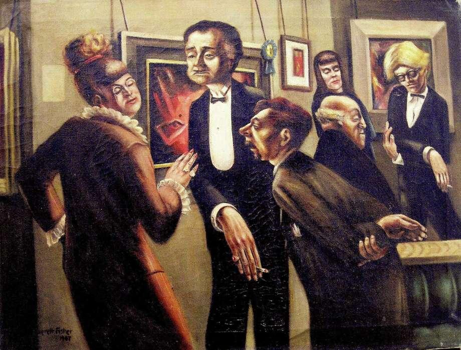 "Leonard Everett Fisher's ""The Opening,"" 1947. Photo: Westport Arts Center / Contributed Photo / Westport News"