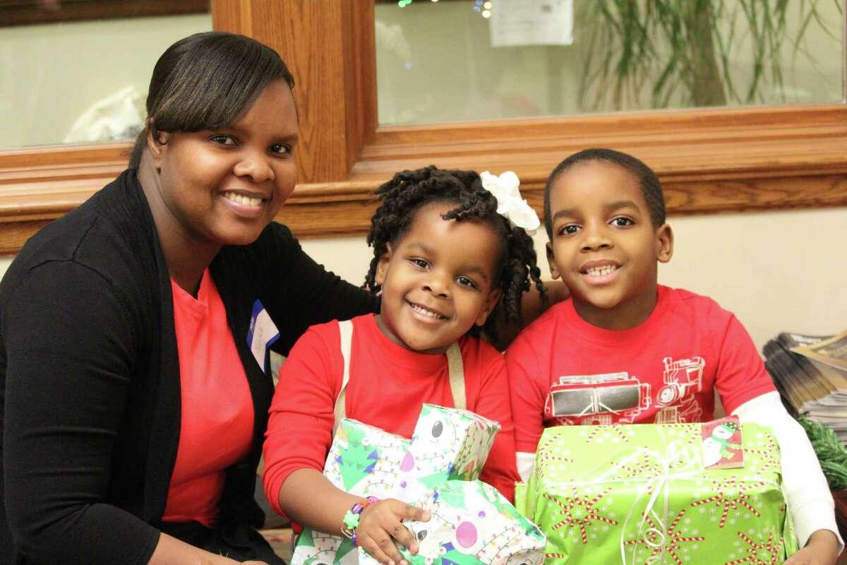 From left to right, Malaika Seme, Faith and Malik.