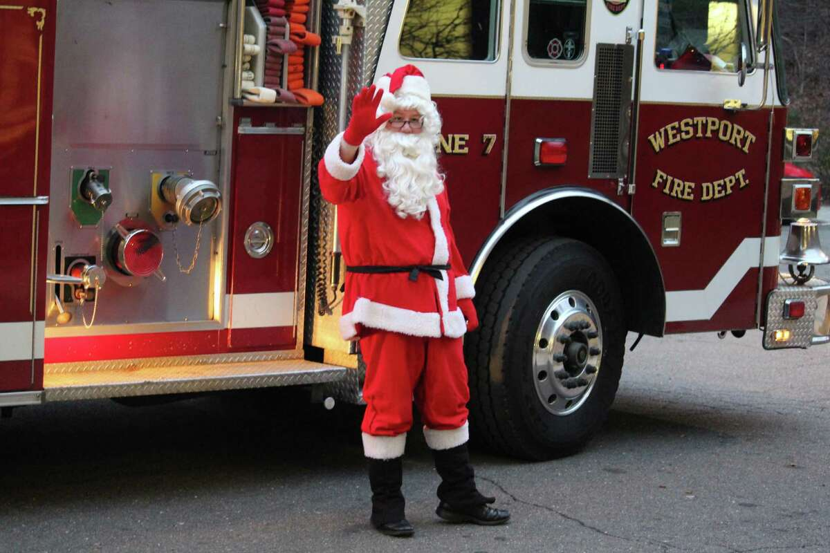 Santa arrives at the Westport Center for Senior Activities to drop off presents.