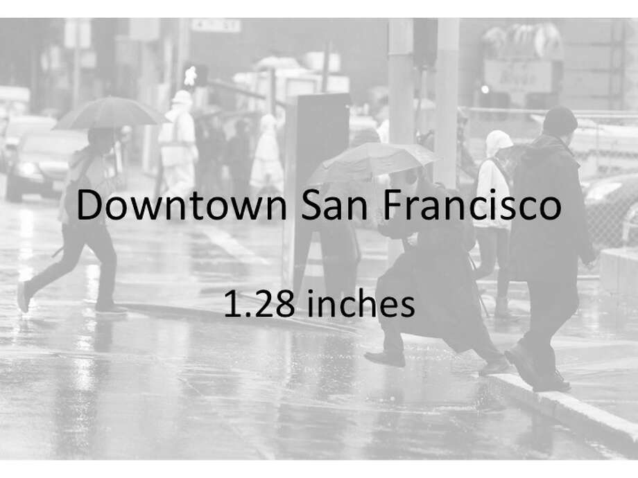 Rainfall totals from the National Weather Service in 48-hour period between Dec. 14 and Dec. 16, 2016 Photo: Lea Suzuki, The Chronicle