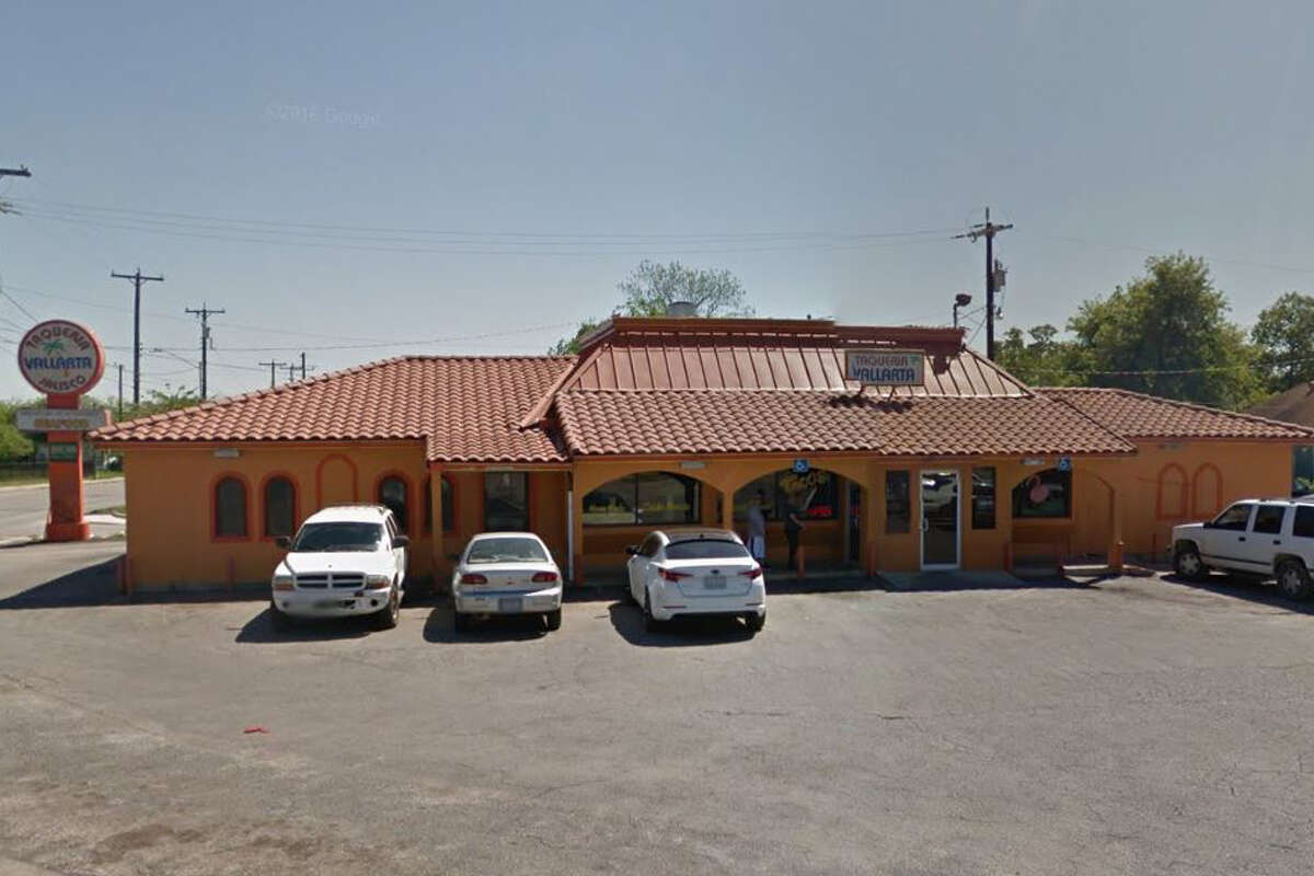 Taqueria Vallarta #2: 1430 E. Durango Blvd., San Antonio, Texas 78210Date: 12/12/2016 Score: 69Highlights: Food not protected from cross contamination (raw meats stored above ready-to-eat foods; food not properly covered in the walk-in cooler), toxic chemicals stored near food items, can opener blade not clean to sight and touch, accumulated debris and grease seen on equipment, cases of lemons and limes were stored on the floor.