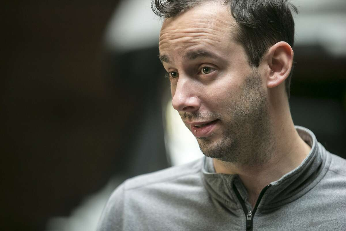 Anthony Levandowski, who is the head of Uber's Advanced Technology Group and the co-founder of Otto, is seen during an Uber news conference on Tuesday, Dec. 13, 2016 in San Francisco, Calif.