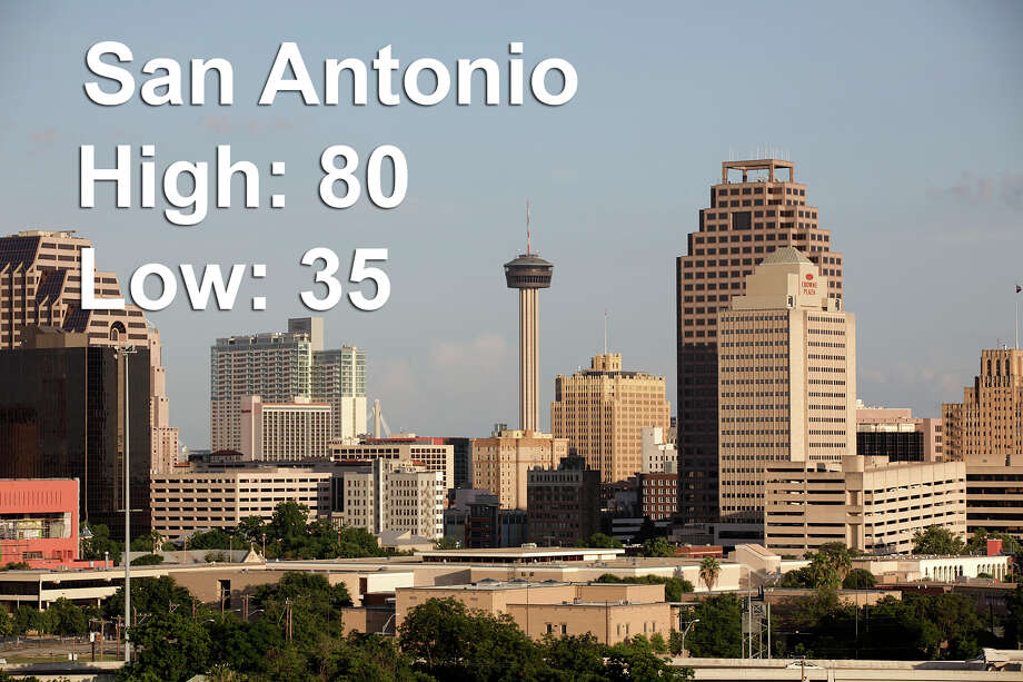 Click through to see the unbelievable temperature swings happening in Texas cities across the state this weekend.San Antonio  Saturday afternoon high: 80 Saturday evening low: 35 Photo: JERRY LARA/San Antonio Express-News