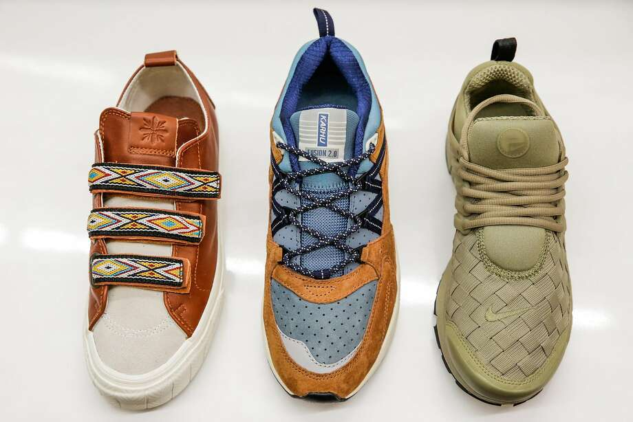 Various sneakers are seen at Bows and Arrows in Berkeley. Photo: Gabrielle  Lurie,