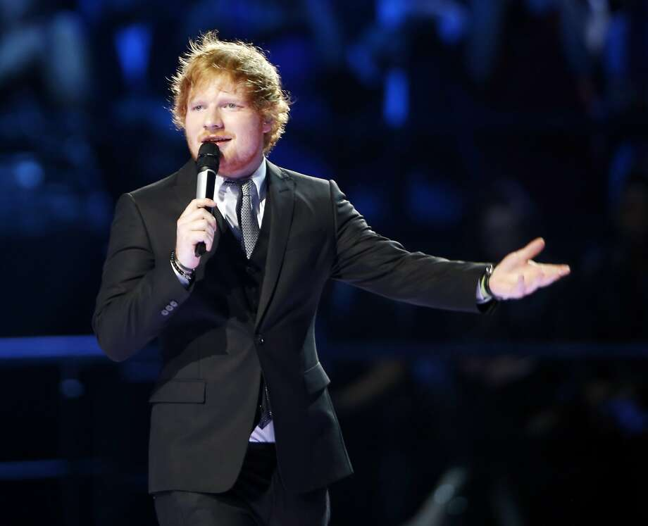 "Ed Sheeran faces a lawsuit over his hit ""Thinking Out Loud"" by the family of Ed Townsend, who co-wrote ""Let's Get It On."" Photo: Luca Bruno, Associated Press"