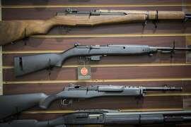 Firearms for sale inside Sutterarms, Friday, Dec. 15, 2016 in Walnut Creek, CA.