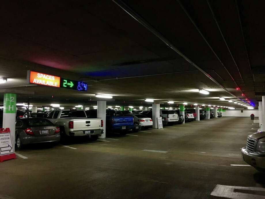 """The underground Theater District Parking Garage serves visitors with 3,369 spaces. """"Signage and wayfinding improvements are routinely and continually being made,"""" says the general manager of Republic Parking, the contractor that operates the city-owned garage complex. Photo: Houston First"""