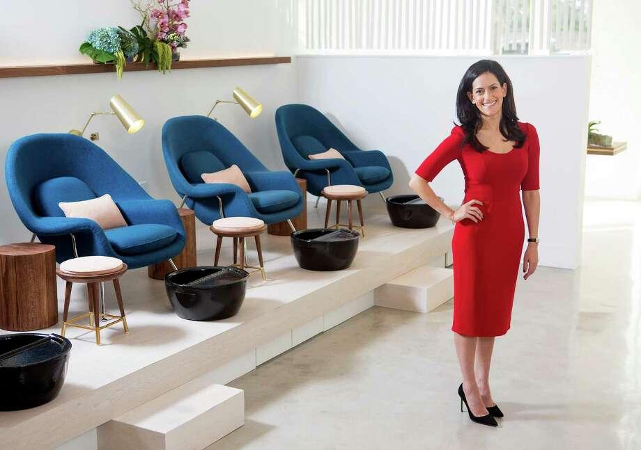 Maryam Naderi, owner of the new Paloma nail salon, Tuesday, Nov. 22, 2016, in Houston. ( Mark Mulligan / Houston Chronicle ) Photo: Mark Mulligan, Staff / © 2016 Houston Chronicle