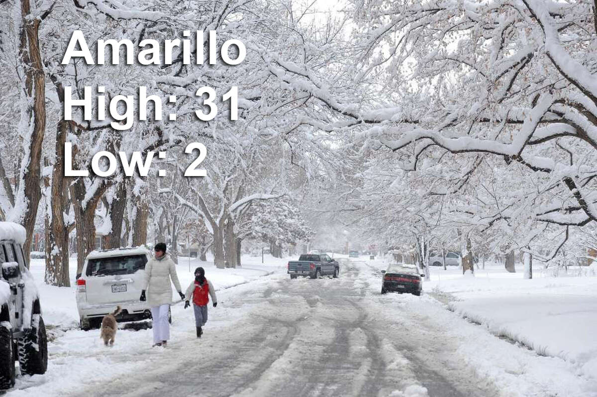 AmarilloSaturday afternoon high: 31Saturday evening low: 2