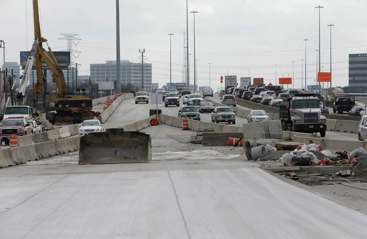Barricades surround the new U.S. 290 westbound main lanes, shown Dec. 13, 2016, in Houston. Traffic was scheduled to shift onto the new lanes on Dec. 21, 2016, from 34th to Hollister.