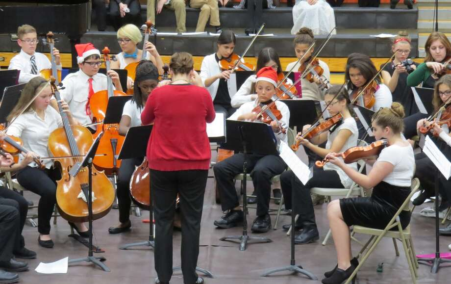 The Liberty Middle School orchestra performs at Monday's concert. Photo: Carol Arnett • Intelligencer