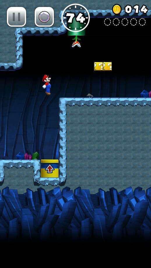 Screenshots of Super Mario Run on the iPhone 6 Plus Photo: Nintendo
