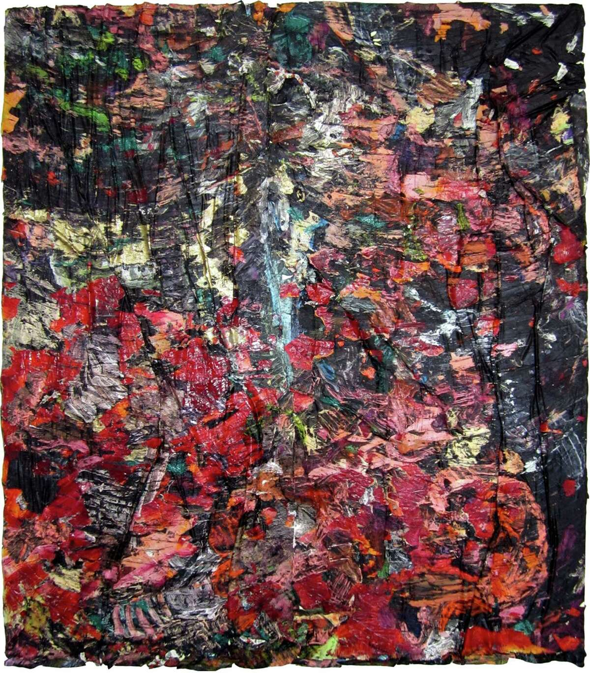 """""""The dangerous ability to fascinate other people,"""" from 2011, is one of the """"oil paint and oil-paint skins collaged on canvas"""" works in Angel Otero's first museum survey, """"Everything and Nothing,"""" at the Contemporary Arts Museum Houston."""