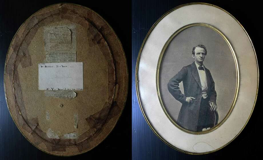 Discovered in a New York thrift shop, this is the only known image of Herman Ehrenberg, one of the most important, and least known, heroes of the Texas Revolution. On the back of the photo is Ehrenberg's business card. Photo: Addison Thompson