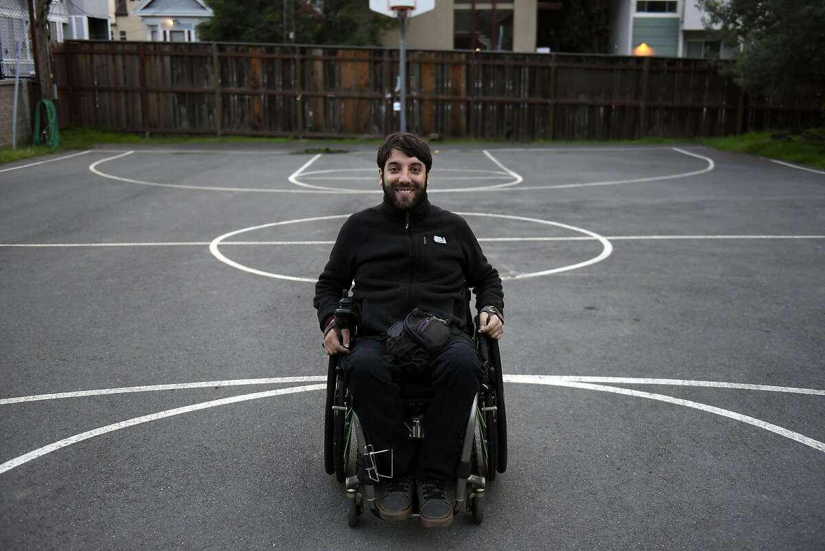 UC Berkeley MBA student Alvaro Silberstein poses for a portrait in Berkeley, CA, on Sunday, December 4, 2016. Alvaro will try to become the first person in a wheelchair to reach three hard-to-reach places in Torres del Paine National Park in southern Chilean Patagonia.