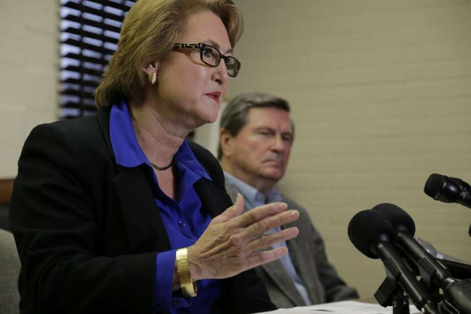 Harris County District Attorney-Elect Kim Ogg speaks during a press conference in Houston on Friday. Photo: James Nielsen, Chronicle