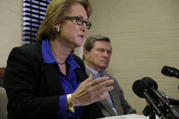 Harris County District Attorney-Elect Kim Ogg speaks during a press conference in Houston on Friday.