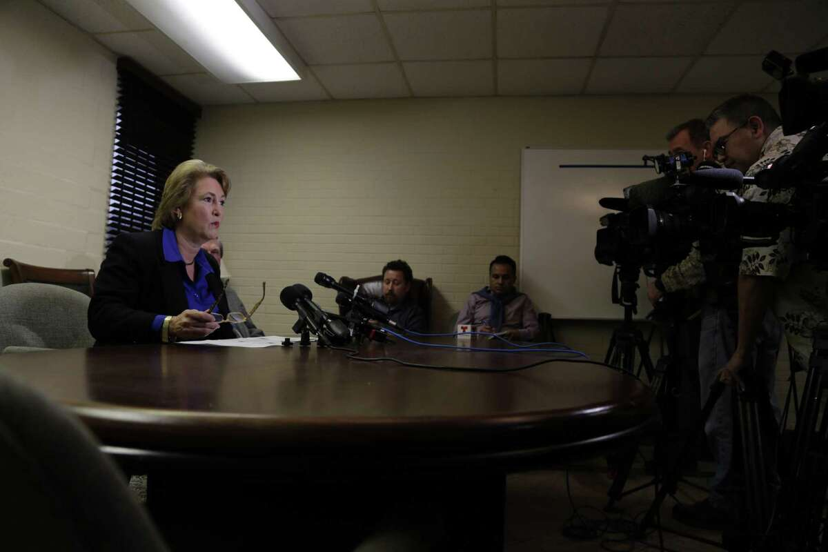 Harris County District Attorney-Elect Kim Ogg speaks during a press conference Dec. 16,2016 in Houston.