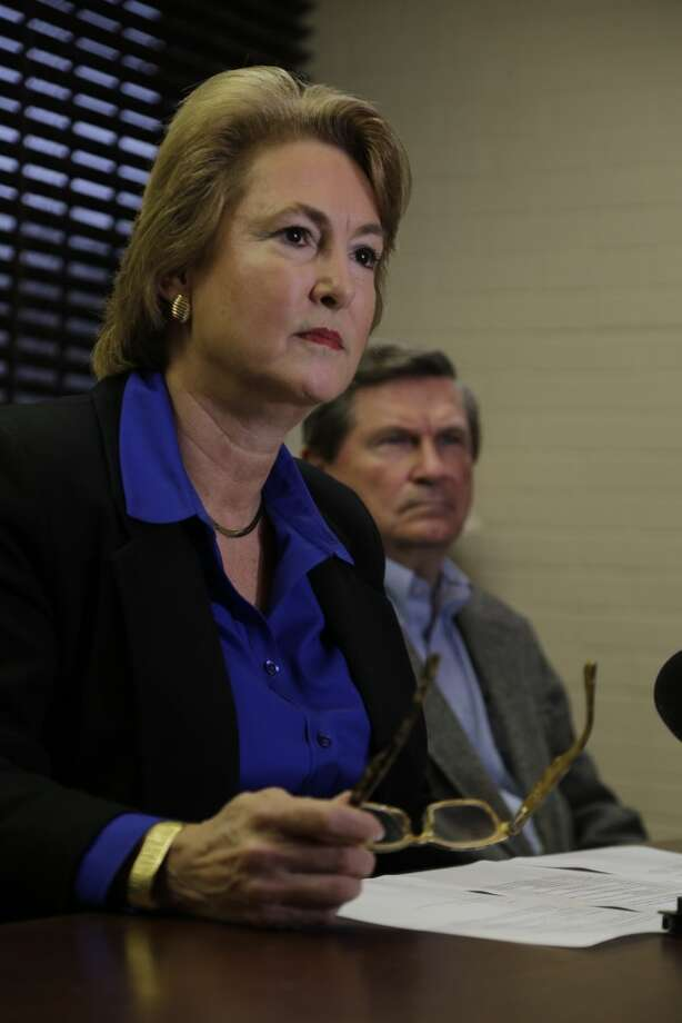 Harris County District Attorney Kim Ogg stepped away from prosecuting the man charged with killing Harris County Deputy Darren Goforth. Photo: James Nielsen, Chronicle