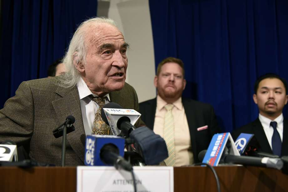 "Famed San Francisco attorney J. Tony Serra has been retained to represent Derick Almena, leader of the art collective at the Ghost Ship warehouse that burned down Dec. 2, 2016, killing 36 people. On Friday, Jan. 8, 2016, Serra, as lead attorney for Raymond ""Shrimp Boy"" Chow, speaks to the gathered media at the Federal Building in San Francisco following the conviction of his client on all counts he faced. Photo: Michael Short, Special To The Chronicle"