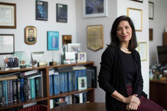 Dr. Huda Y. Zoghbi, a professor in the Departments of Pediatrics, Molecular and Human Genetics, Neurology and Neuroscience at Baylor College of Medicine sits on her office, Friday, Nov. 25, 2016, in Houston. ( Marie D. De Jesus / Houston Chronicle)
