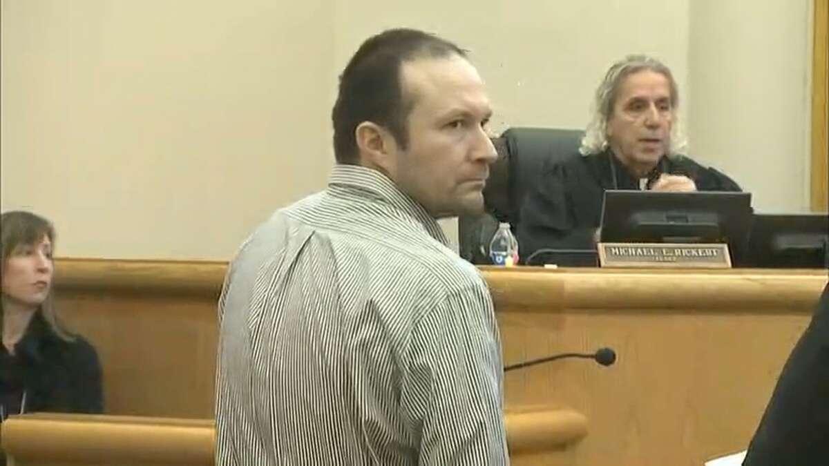 Ernesto Lee Rivas appears in Skagit County Superior Court on Dec. 16, 2016.