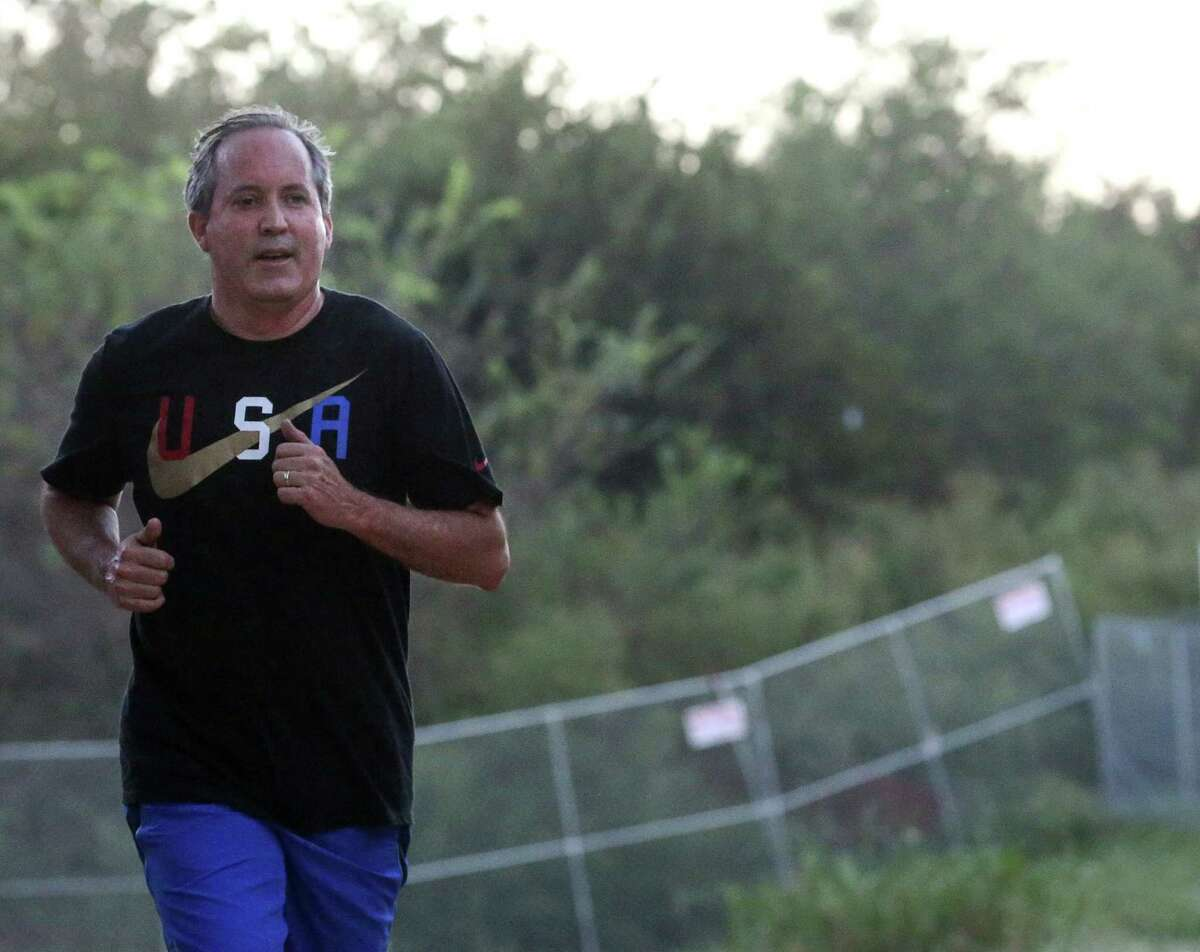 Ken Paxton has never been a runner, but that doesn't stop him from training for a half-marathon at Disney World with a jog around Lady Bird Lake in Austin.