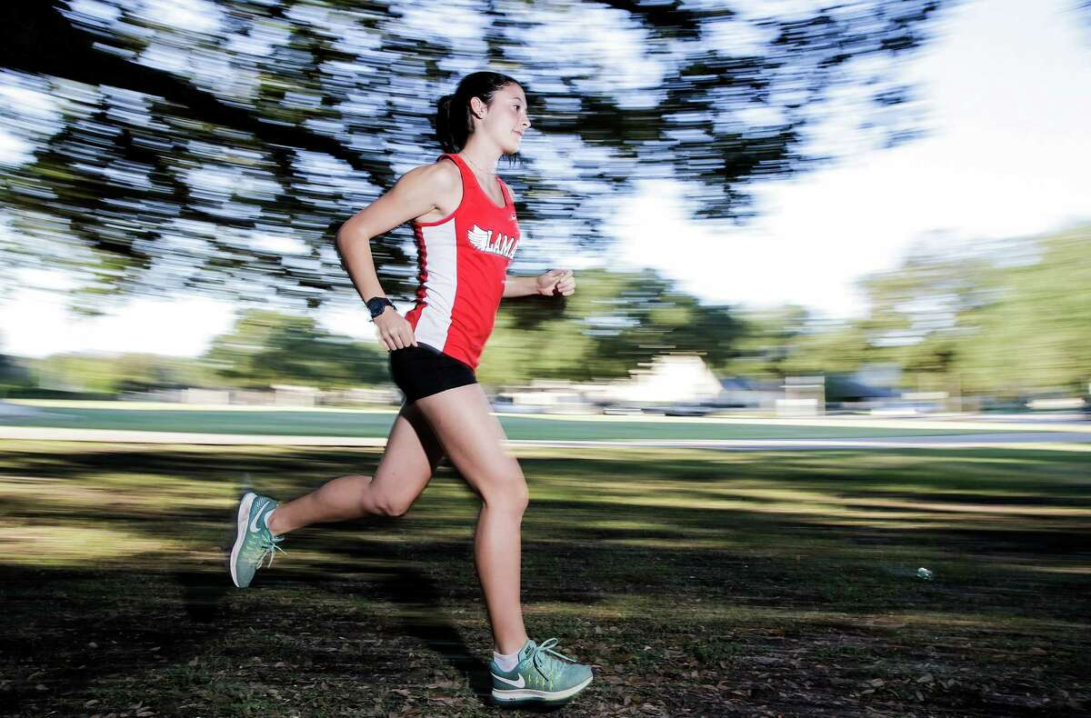 Julia Heymach, a senior from Lamar who is the All-Greater Houston Cross Country Girls Runner of the Year. Heymach has won the award all four years in high school and recently signed with Stanford. Photographed on Wednesday, Nov. 23, 2016, in Houston. ( Elizabeth Conley / Houston Chronicle )