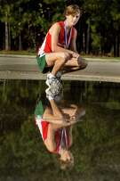 The Woodlands High School senior William Hunsdale poses for a portrait on Wednesday, Nov. 23, 2016, in Houston. Hunsday is the Greater Houston Cross Country Boys Runner of the Year. ( Brett Coomer / Houston Chronicle )