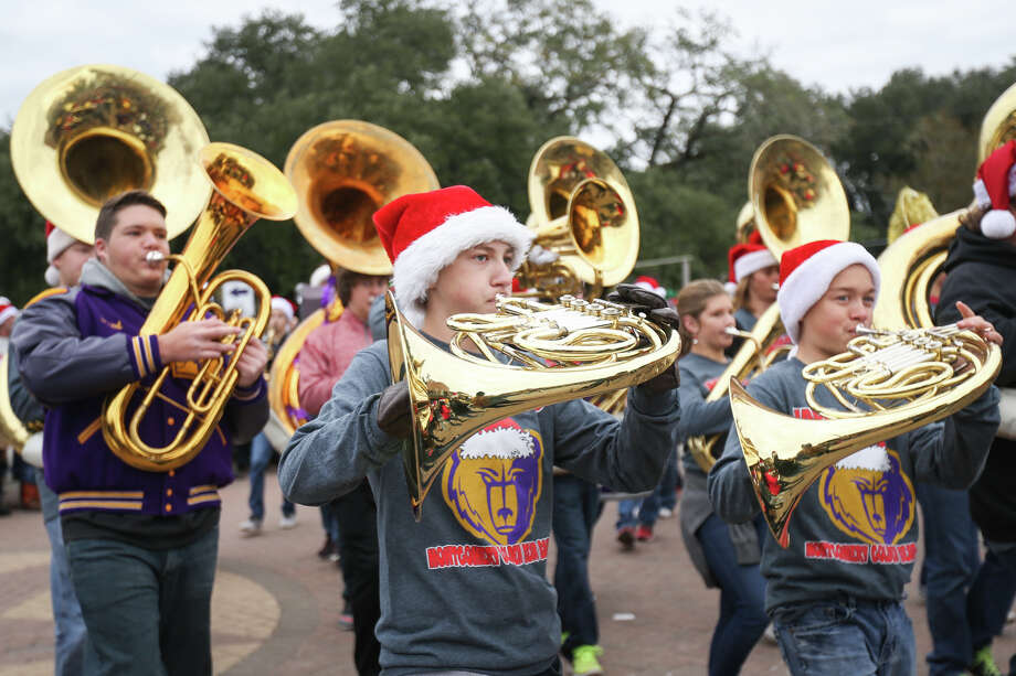 The Montgomery High School marching band performs during the Montgomery Christmas Parade on Saturday, Dec. 10, 2016, in downtown Montgomery. Photo: Michael Minasi, Staff / © 2016 Houston Chronicle